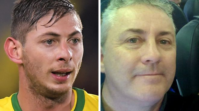 Emiliano Sala (left) was on board a plane being flown by pilot David Ibbotson (Image credit: Getty Images/ David Ibbotson)