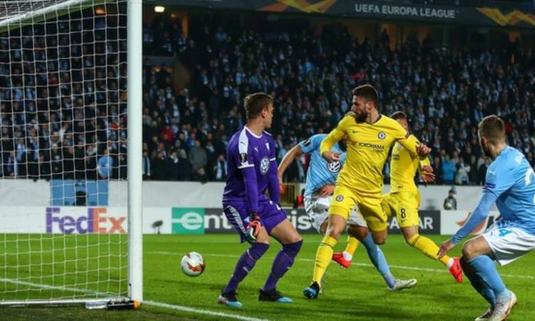 Olivier Giroud has scored five goals in six Europa League appearances this season (Image credit: Getty Images)