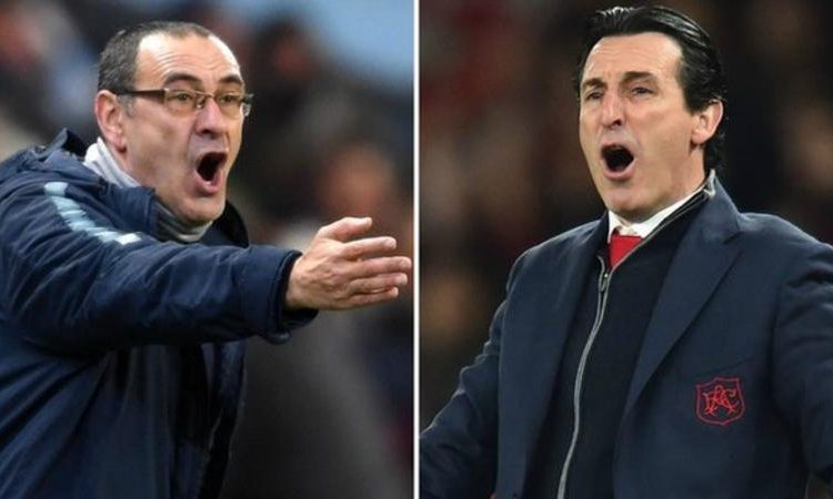 Arsenal boss Emery (right) won the Europa League with Sevilla in 2014, 2015 and 2016 (Image credit: Getty Images)