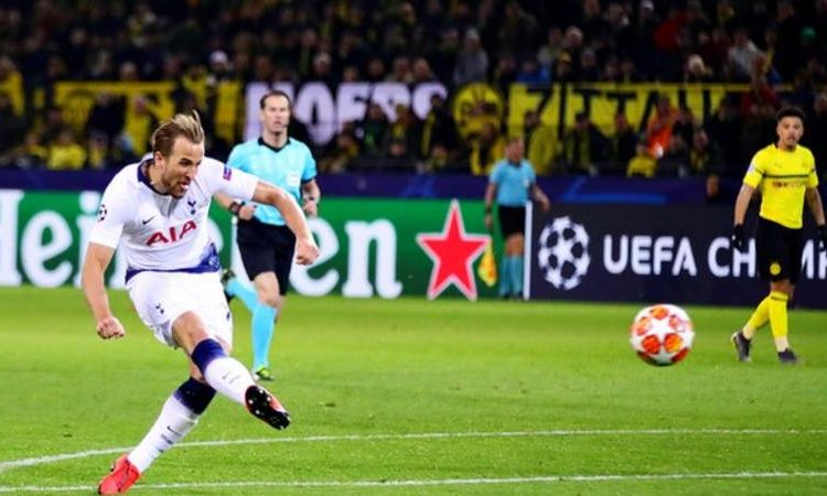 Harry Kane scored his 24th goal in Europe for Tottenham (Image credit: Getty Images)