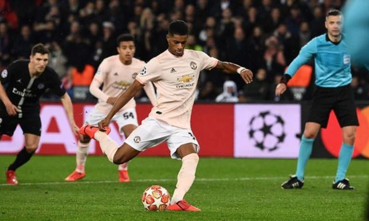 Rashford had never previously taken a penalty in a competitive game for Manchester United (Image credit: Getty Images)