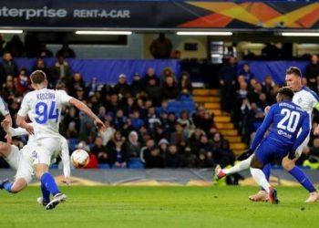 Callum Hudson-Odoi has scored four goals this season, three in the Europa League (Image credit: Reuters)