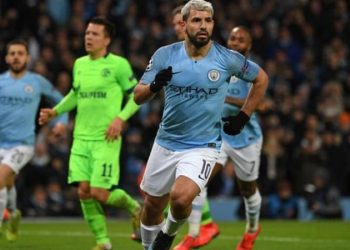 Manchester City striker Sergio Aguero has scored five goals in the Champions League this season (Image credit: Getty Images)