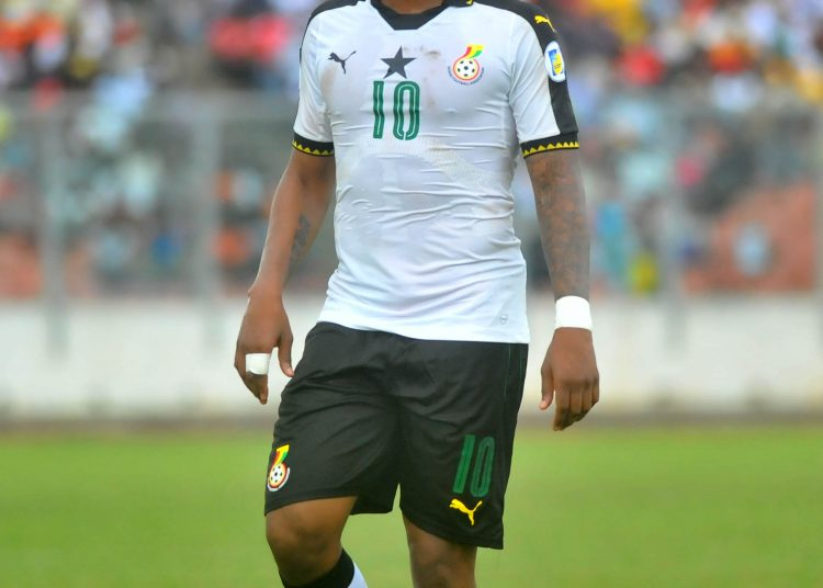 Andre Ayew of Ghana during the 2018 Afcon qualifier game between Ghana vs Congo in Kumasi, Ghana on 01 September 2017 ©Christian Thompson/ BackpagePix