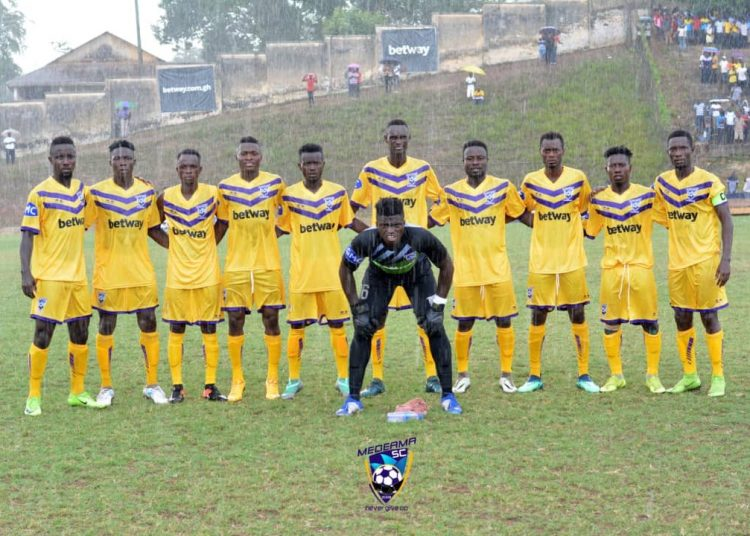 Medeama are second in Zone A with 5 games played.
