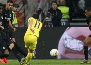 Pedro got Chelsea's away goal, having scored twice against Slavia Prague in the previous round (Image credit: EPA)