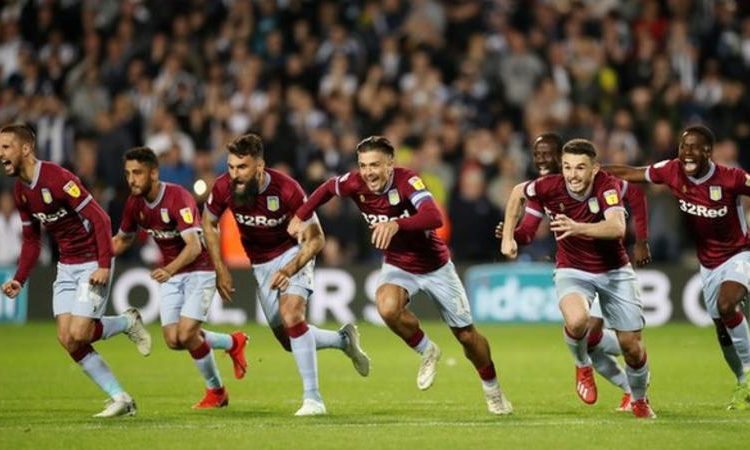 Aston Villa will play Leeds or Derby in the Championship play-off final on 27 May (Image credit: Reuters)