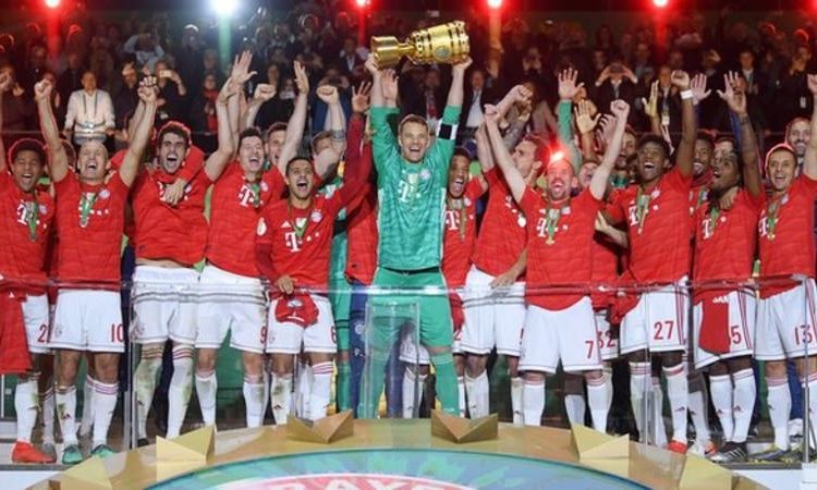 Bayern claimed their 19th German Cup at the Olympiastadion in Berlin (Image credit: Getty Images)