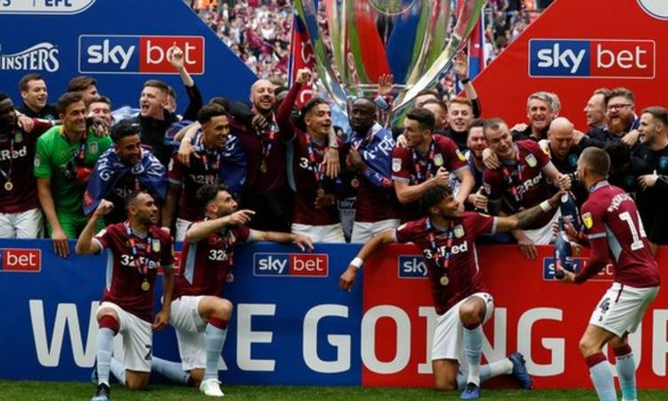 Aston Villa will return to the top flight after a three year absence (Image credit: Getty Images)