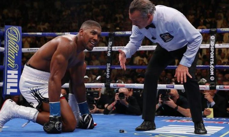 Joshua suffered his first defeat as a professional in his first fight in the United States (Image credit: Getty Images)