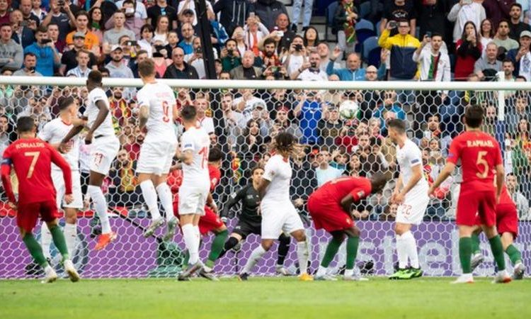 Cristiano Ronaldo scored his 86th international goal with a first-half free-kick before going on to add to his tally in the second-half (Image credit: Getty Images)