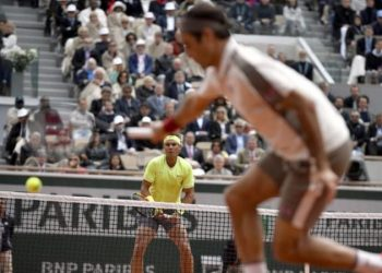 Rafael Nadal now has a 6-0 career record over Roger Federer at the French Open (Image credit: Rex Features)