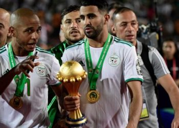 Yacine Brahimi (left) came on as a substitute as Algeria beat Senegal in the final of the 2019 Africa Cup of Nations (Image credit: Getty Images)