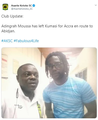 Asante Kotoko fans upset over club's 'shoddy' transfer announcements on Twitter
