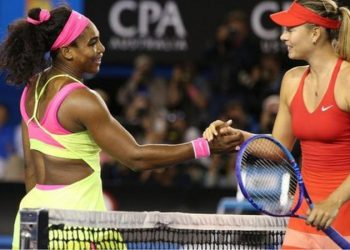 Serena Williams beat Maria Sharapova in straight sets in the 2015 Australian Open final in Melbourne (Image credit: Getty Images)