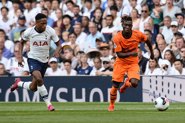 LONDON, ENGLAND - AUGUST 25: Christian Atsu of Newcastle United (30) runs with the ball  during the Premier League match between Tottenham Hotspur and Newcastle United at Tottenham Hotspur Stadium on August 25, 2019 in London, United Kingdom. (Photo by Serena Taylor/Newcastle United via Getty Images)