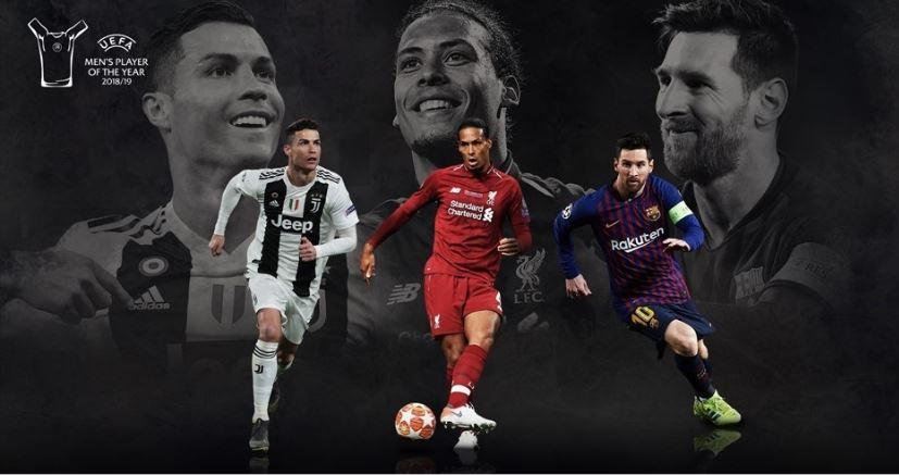 Cristiano Ronaldo, Virgil van Dijk and Lionel Messi make up the three-man shortlist ©UEFA.com