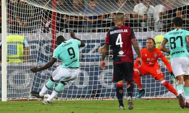 Lukaku scored the winning goal for Inter at Cagliari (Image credit: EPA)