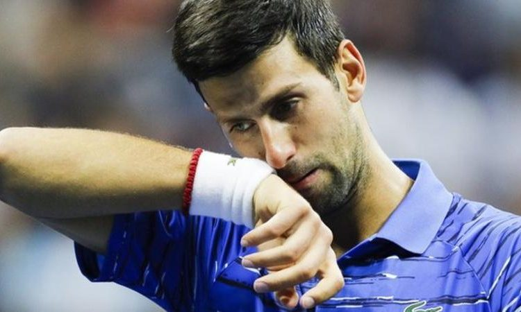 Djokovic retired for the sixth time in a Grand Slam match and the 13th time in his career (Image credit: AP)