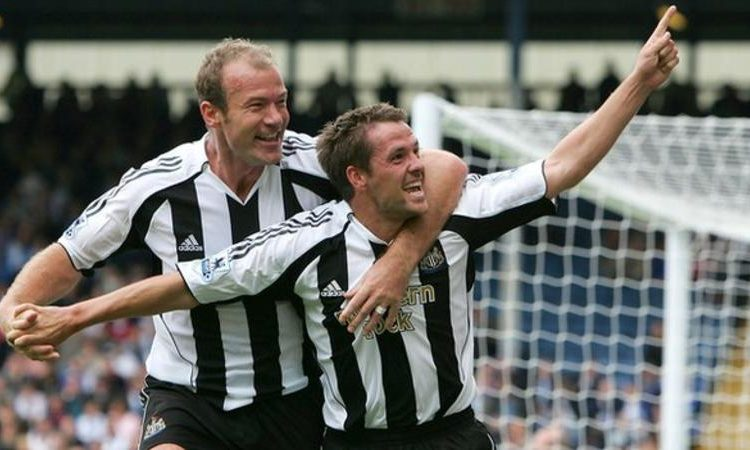 Alan Shearer (left) and Michael Owen (right) were teammates at Newcastle United before Shearer had a brief spell as interim manager (Image credit: Getty Images)