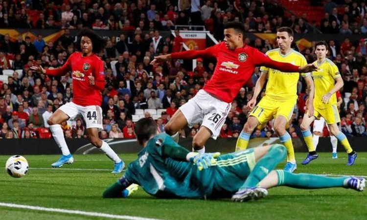 Mason Greenwood (number 26) is the first player born in the 2000s to score a senior goal for Manchester United (Image credit: Reuters)