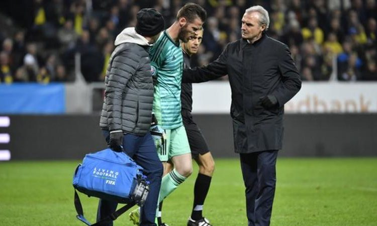 David de Gea started in Sweden after being left on the bench against Norway last week (Image credit: EPA)
