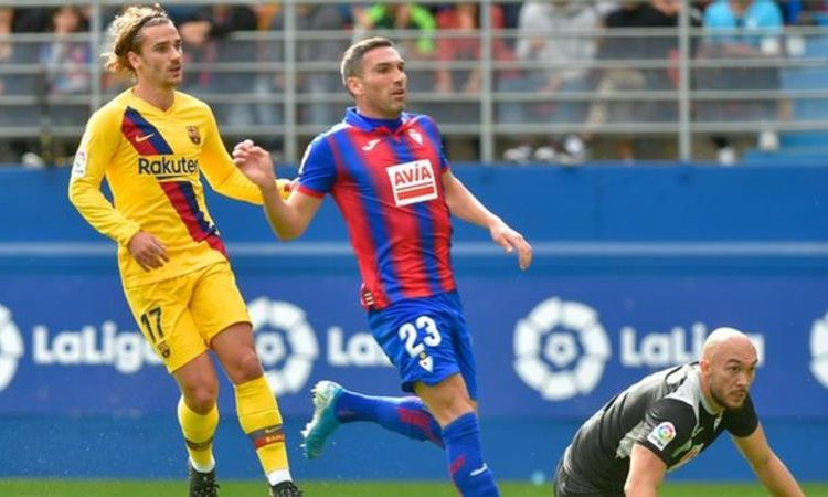 Antoine Griezmann (left) scored against the run of play in the first half (Image credit: Getty Images)