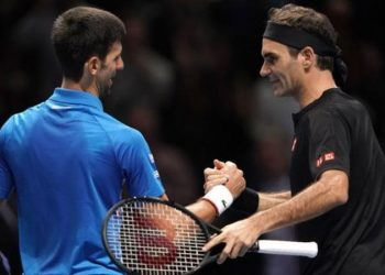 Roger Federer beat Novak Djokovic to reach his 16th semi-final in 17 appearances at the season-ending event (Image credit: PA Media)