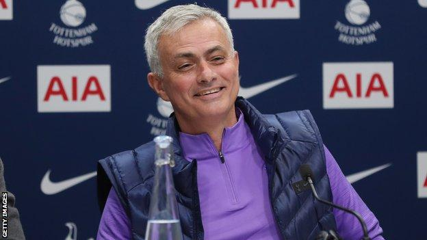 Mourinho addressed the media for the first time as Tottenham boss on Thursday (Image credit: Getty Images)