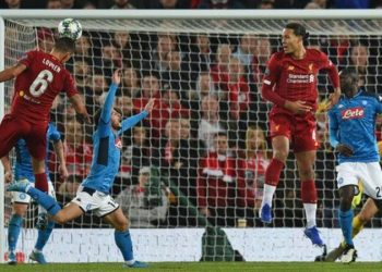 Dejan Lovren scored his first goal in Europe since claiming the winner in the Europa League quarter-final against Borussia Dortmund in April 2016 (Image credit: AFP)