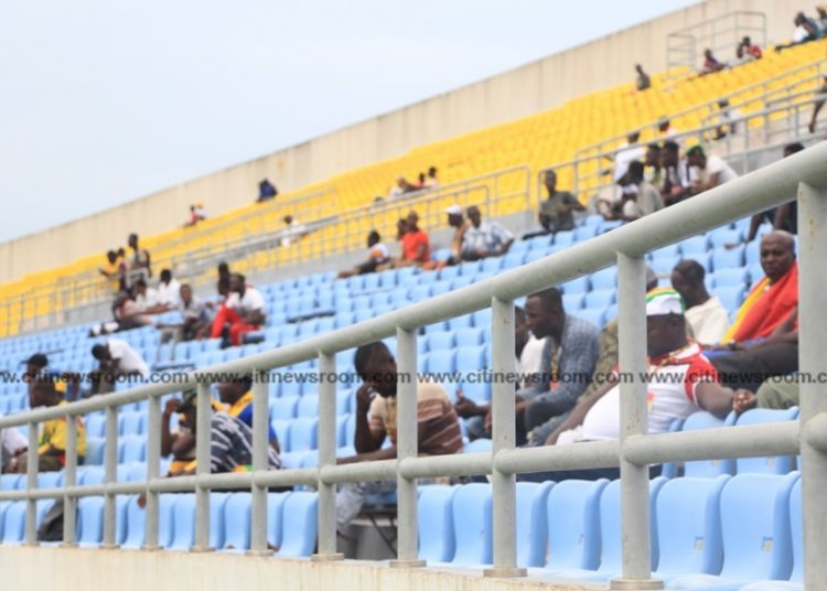 A shot of the Accra Sports Stadium when Ghana played South Africa