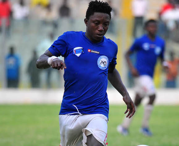 Saka Godfred of Aduana FC During the1st Capital Plus Premier league ©Christian Thompson/BackpagePix