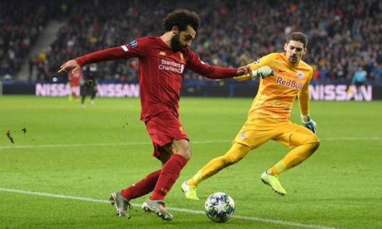 Mohamed Salah scored a right-footed goal from outside the box for the first time since moving to Europe from Egypt (Image credit: Getty Images)