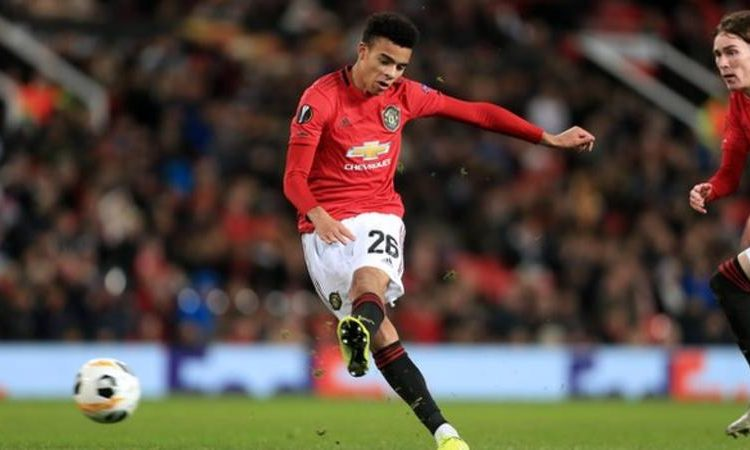 Mason Greenwood is the youngest player to score twice in the same game in Europe for Manchester United, aged 18 years and 72 days (Image credit: Getty Images)
