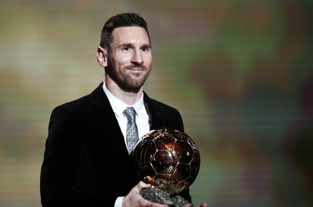 Lionel Messi wins the Men's 2019 Ballon d'Or! (Photograph: Yoan Valat/EPA)
