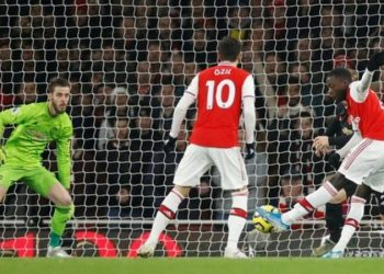 Nicolas Pepe scored his fifth goal of the season and also hit the post before he was substituted (Image credit: Reuters)