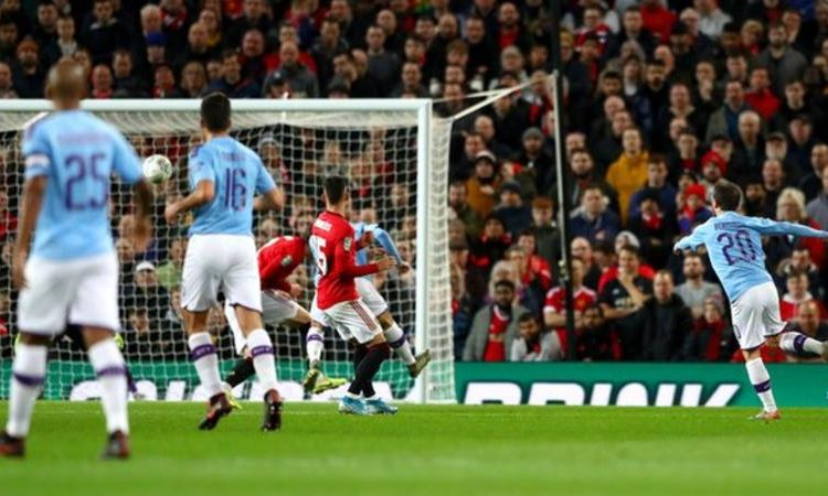 Bernardo Silva is the first Manchester City player to score in consecutive appearances against Manchester United at Old Trafford since Sergio Aguero between 2011-2015 (three games) (Image credit: Getty Images)