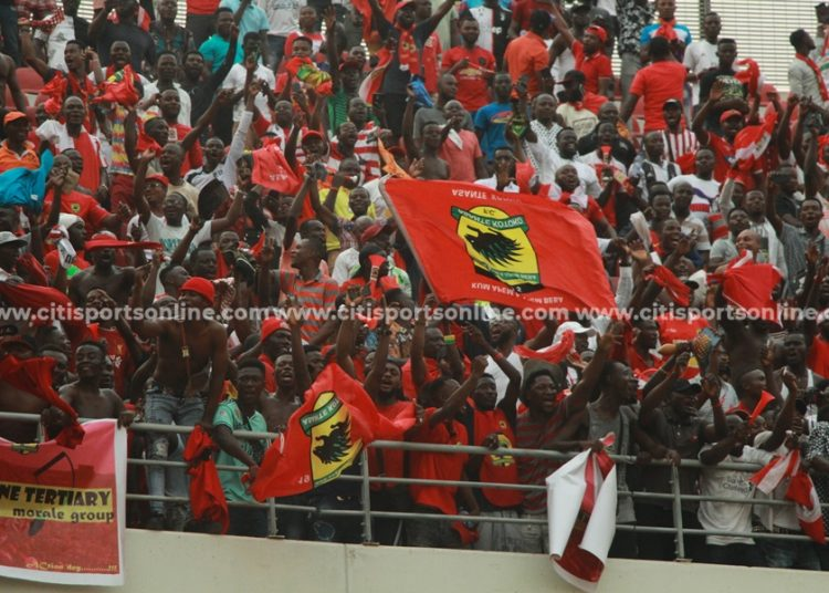 The Asante Kotoko fans were in fine voice during and after the game against Hearts of Oak