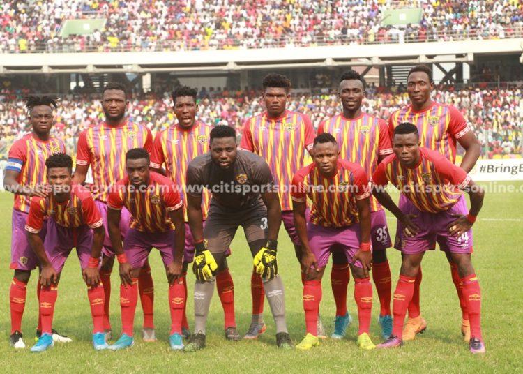 Hearts of Oak's starting XI pose for photos before the game  Hearts of Oak vs Asante Kotoko - 26-01-20
