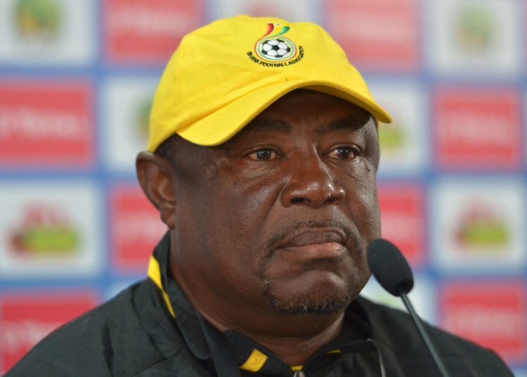 Samuel Kwasi Fabin, coach of Ghana during the 2017 Under 17 Africa Cup of Nations Finals Ghana press conference  at the Libreville Stadium in Gabon on 19 May 2017 ©Samuel Shivambu/BackpagePix