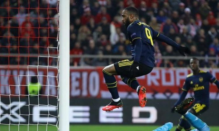 Alexandre Lacazette fired in his eighth goal of the season (Image credit: Getty Images)