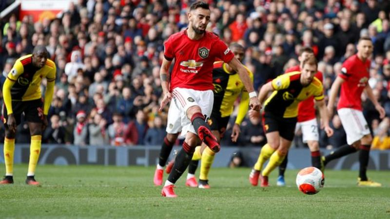 Fernandes scored his first goal for United from the penalty spot