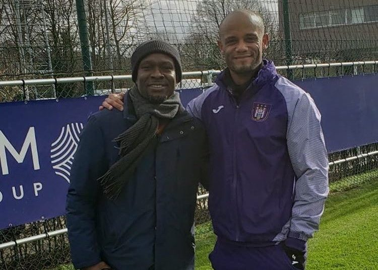 CK Akonnor with Vincent Kompany