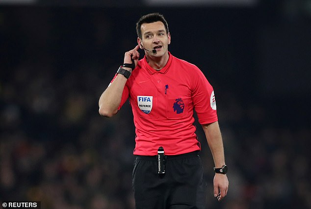 Premier League referees Andy Madley (pictured) and David Coote have failed FIFA fitness test