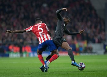GEORGINIO WIJNALDUM AND THOMAS PARTEY DURING MATCH ATLETICO DE MADRID VERSUS LIVERPOOL, CHAMPIONS LEAGUE AT WANDA METROPOLITANO STADIUM. TUESDAY, 18 FEBRUARY 2020 Cordon Press