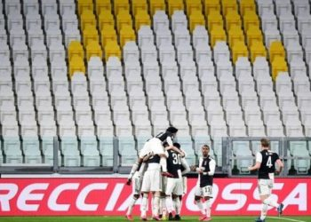 Juventus had no fans to celebrate with when they scored against Inter Milan at the weekend (Image credit: Reuters)
