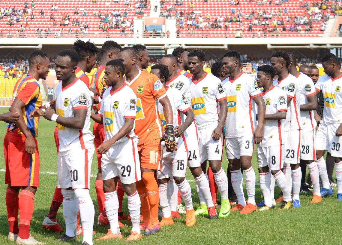 When the good times were here: Hearts vs Kotoko at the Accra Sports Stadium in February 2020 in the Ghana Premier League