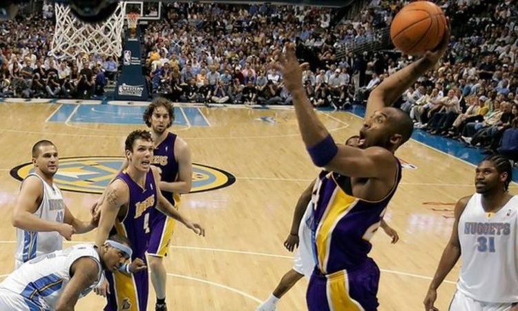 Kobe Bryant played for the Los Angeles Lakers between 1996 and 2016 (Image credit: Getty Images)