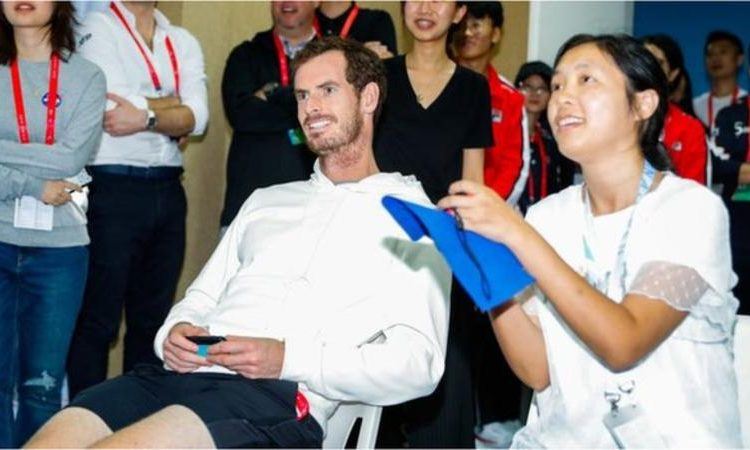 Andy Murray took on a fan at the China Open last year (Image credit: Getty Images)