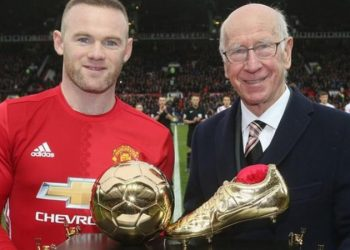 Wayne Rooney broke Sir Bobby Charlton's Manchester United and England goalscoring records (Image credit: Getty Images)